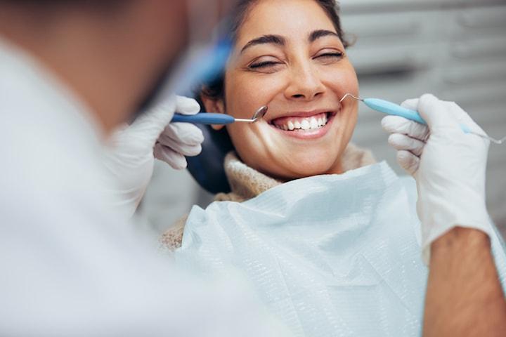 Tandläkarundersökning och röntgenbilder