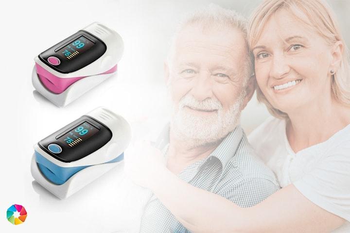 Clip-on hjärtmonitor och oximeter