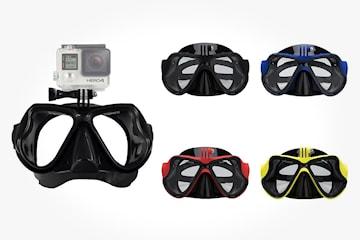 Dykkemaske med kameraholder kompatibel med GoPro