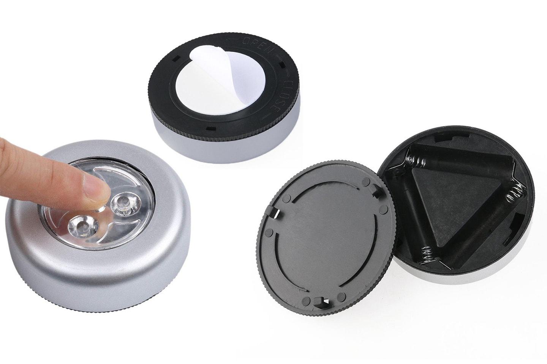 2-, 4- eller 6-pack selvklebende LED-lys