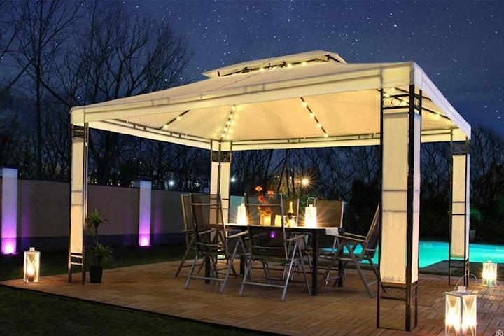 Swing & Harmony Milano Trädgårdspaviljong med LED-belysning