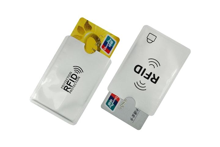 2x RFID-blockerande korthållare