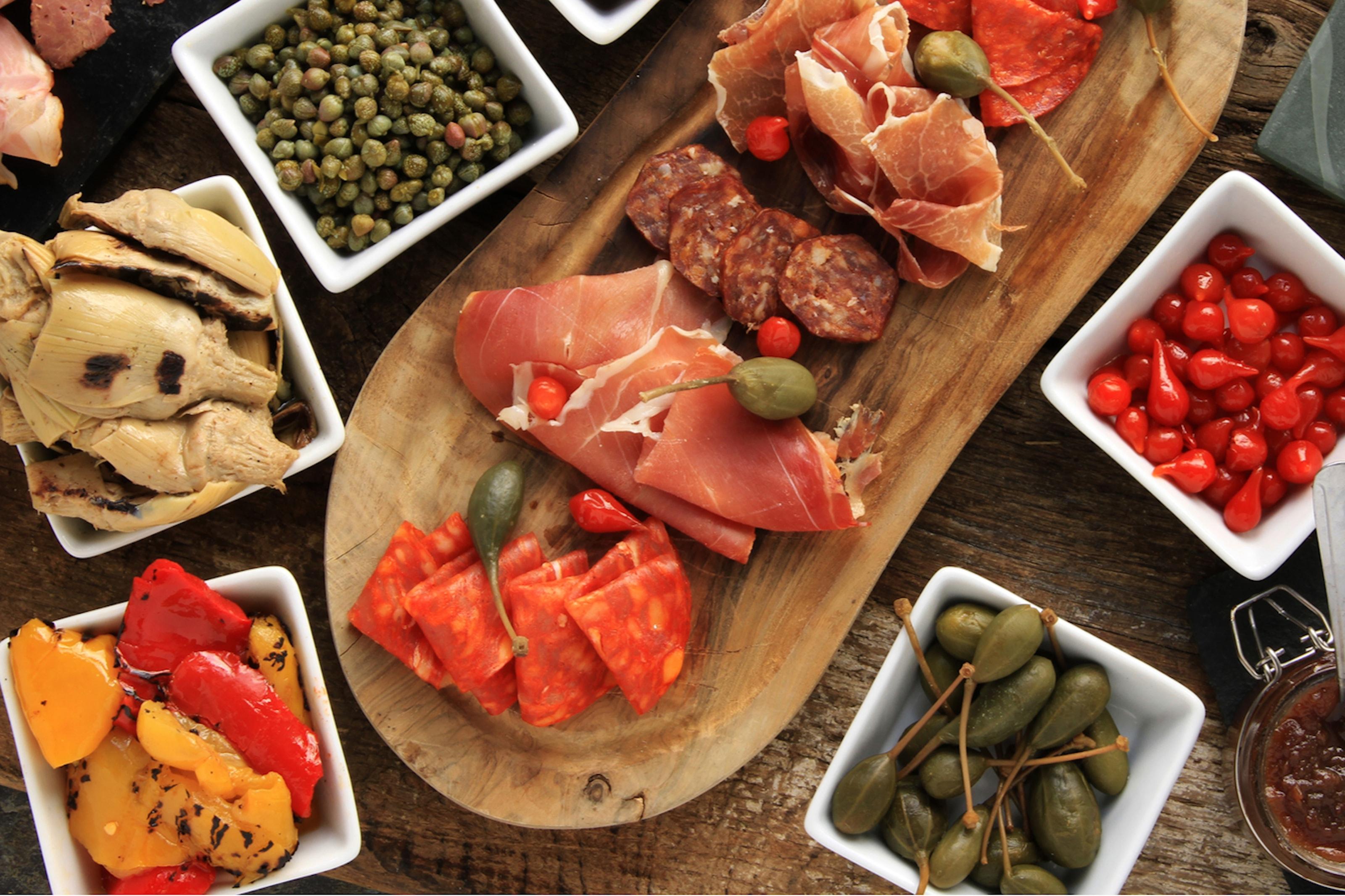 Italiensk tvårätters på Restaurang Spot