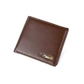 Brun, Smart Genuin Leather Anti-theft Wallet, Läderplånbok med anti-stöld,