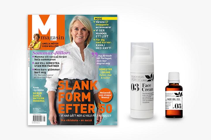M-magasin 4 nr + Moonsun Face cream och oil