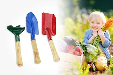 Sett med hagespader til barn