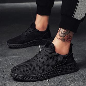 Svart, 42, Men's sporty shoes, Luftiga löparskor, ,