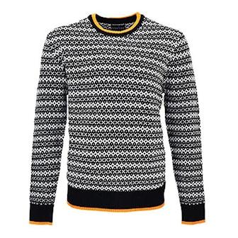 Svart, L/XL, Nielsen Christensen Men's Knitted Wool Sweater, Ullgenser fra Nielsen Christensen,