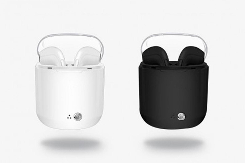 Apple-kompatibla trådlösa hörlurar med laddningsbox