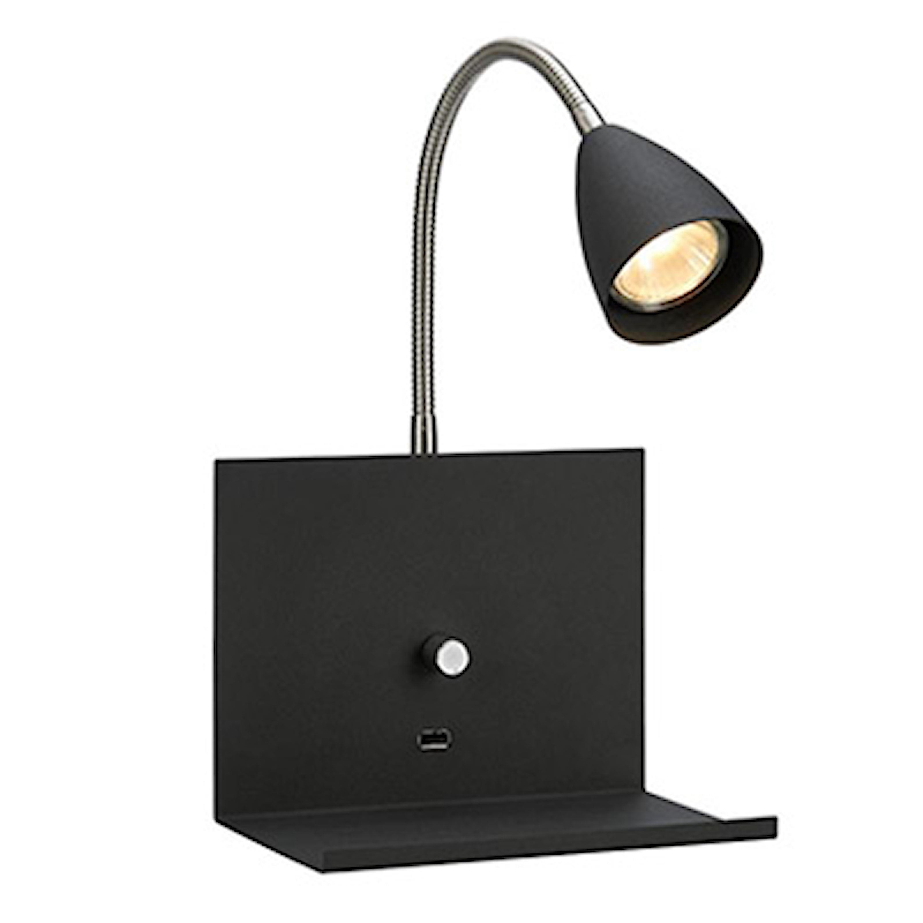 Svart, Wall lamp Logi from Markslöjd, 2 colors, Smart vägglampa från Markslöjd, ,