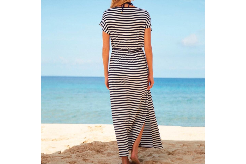 Sommerkjole med striper