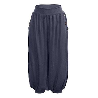 Marinblå, 4XL, Women's Casual Loose Pants, Byxor i lös passform, ,