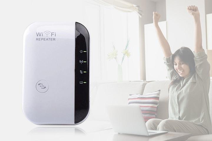 Wifi  300 Mbps repeater med integrerad antenn