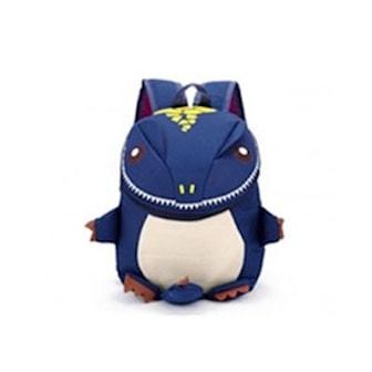 Mörkblå, 3D Dinosaur Cute Backpack, Cool dinosaurieryggsäck, ,
