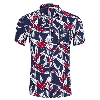 L, Navy/Red Crush, Men's Summer Shirt, Sommerskjorte til herre, ,  (1 av 1)