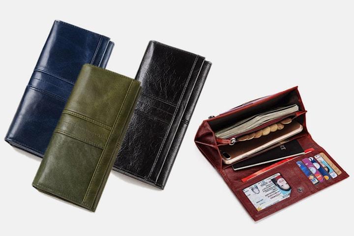 Klassisk plånbok i läder