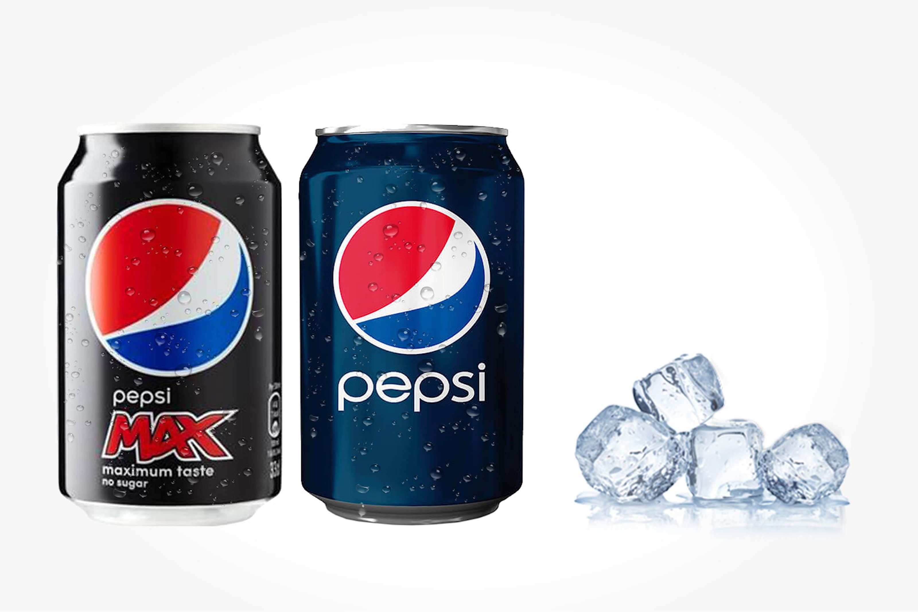 Tre brett med Pepsi eller Pepsi Max