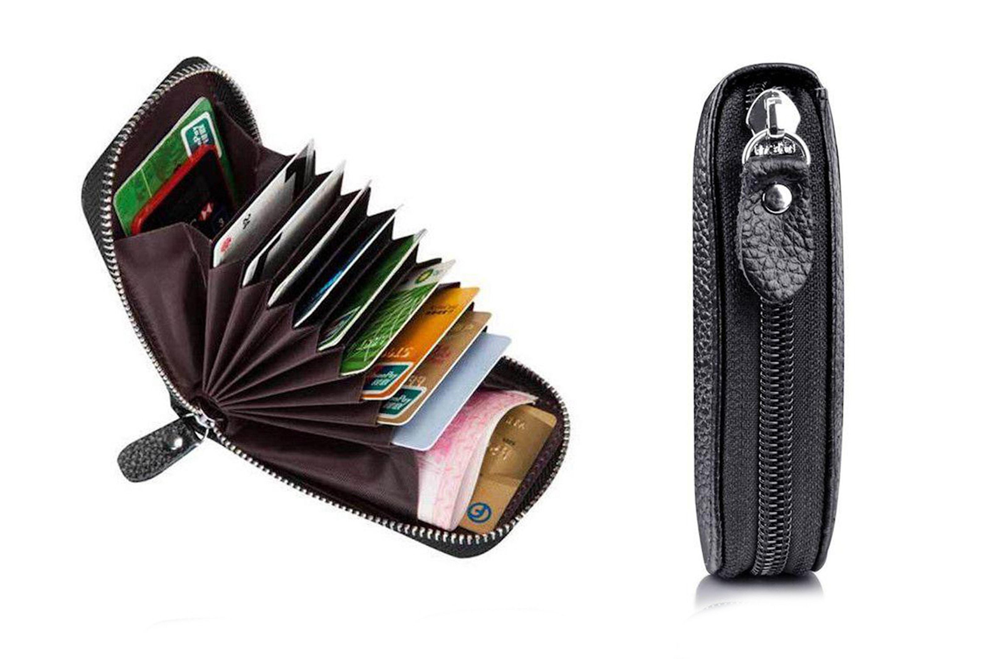 RFID-skyddat plånbok i läder