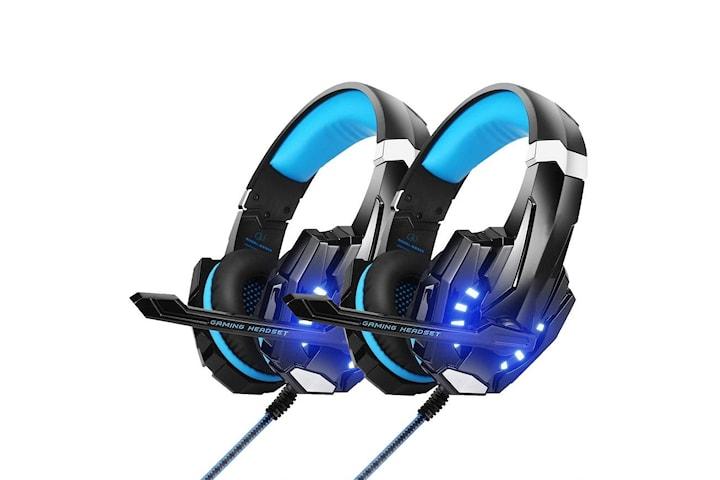 2 Pack Gaming headset hörlurar C4U® G9000 för PS5 - PS4 - Pro