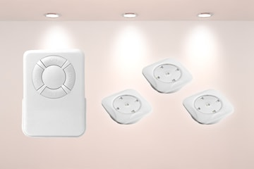 Batteridrevne LED-spotter med fjernkontroll 3- eller 6-pack