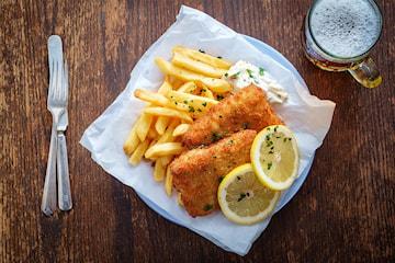 Fish n' chips på Lilla London