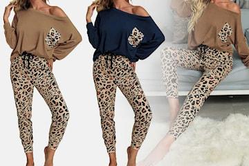 Mykt sett i leopardmønster