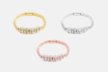 Onyx armband med Swarovskikristaller