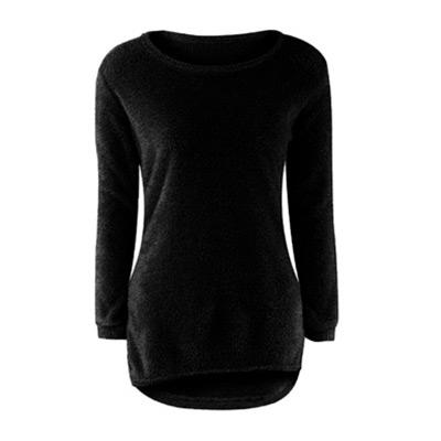 Svart, L, Soft Fuzzy Sweater, Tröja, ,  (1 av 1)