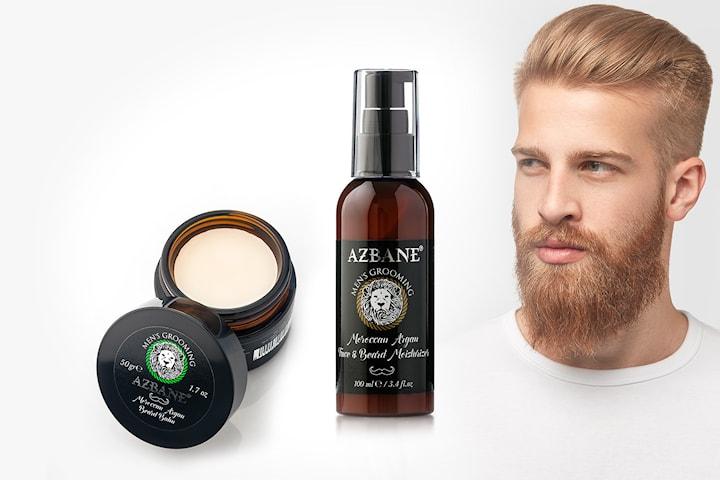 Azbane Beard Balm 50 g eller Men´s Grooming Moisturizer Face and Beard 100 ml
