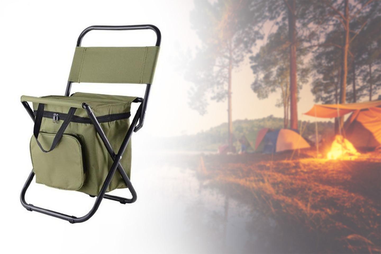 Vikbar campingstol med kylväska (1 av 10)