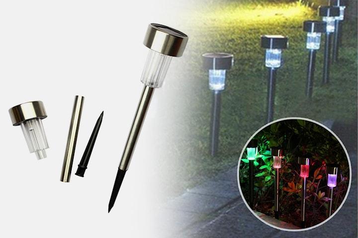 Solcellelampe til hagen 2-, 4-, eller 6-pack