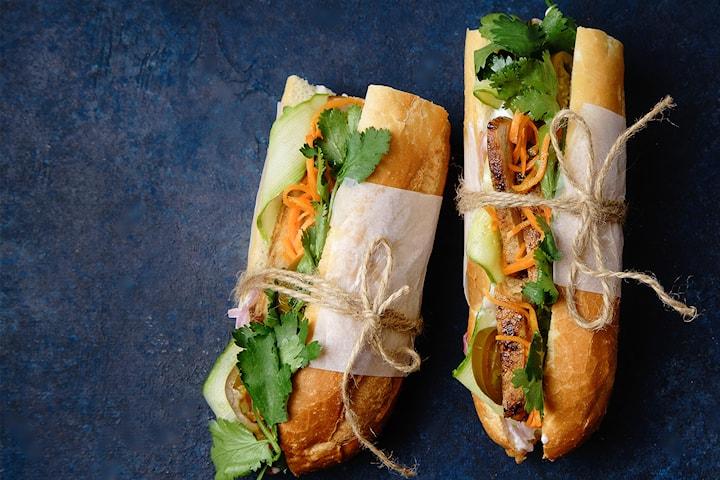 Takeaway! Vietnamesisk sandwich for 49 kr per person