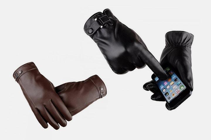 Touch-screen hansker i kunstig skinn
