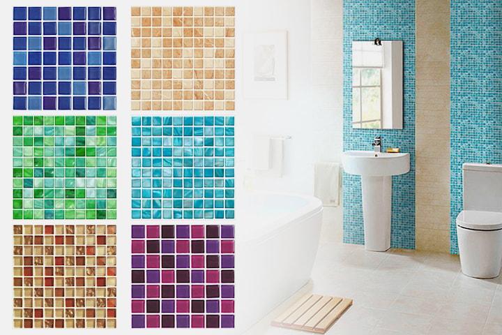 Självhäftande mosaik 10-, 20-, 40- eller 60-pack