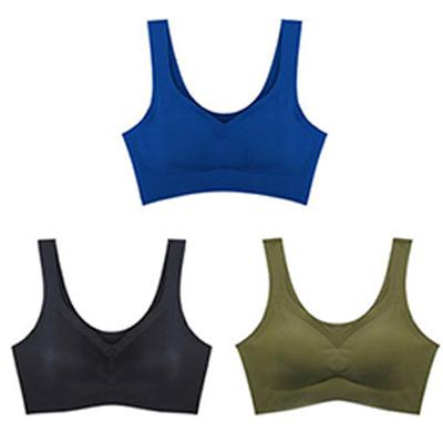 Svart, Blå, Grønn, XL, Comfort Seamless Bra, 3-pack, ,  (1 av 1)