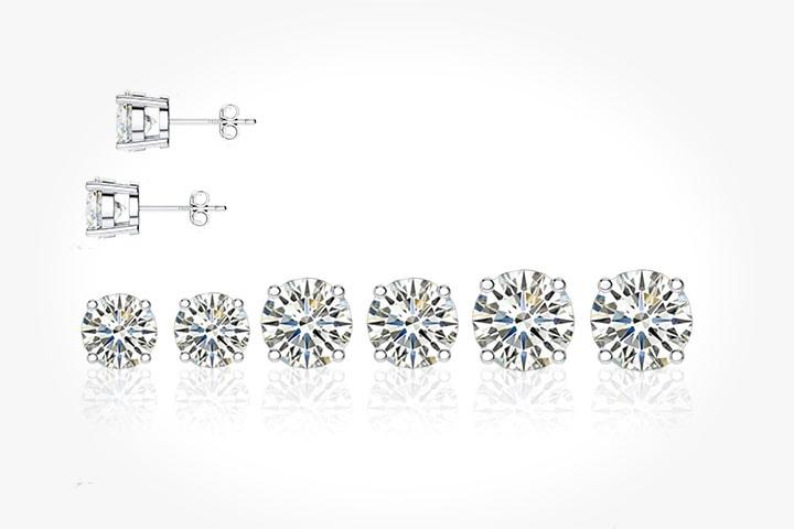 Crystal örhängen med Swarovski-kristaller 3 par