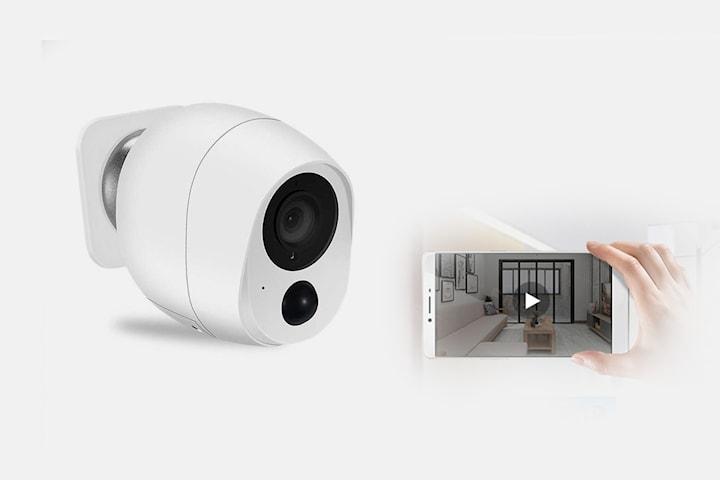 1080P batteridriven övervakningskamera med WiFi