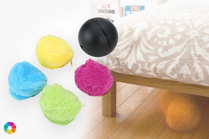 Robot-städboll med 4-pack mikrofiberöverdrag
