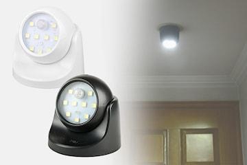 LED-lys roterende med bevegelsessensor