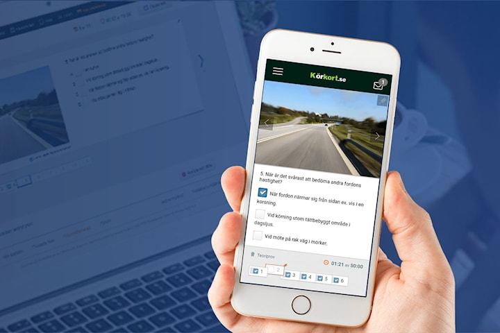 Körkortsteori online för bil, MC och EU-moped