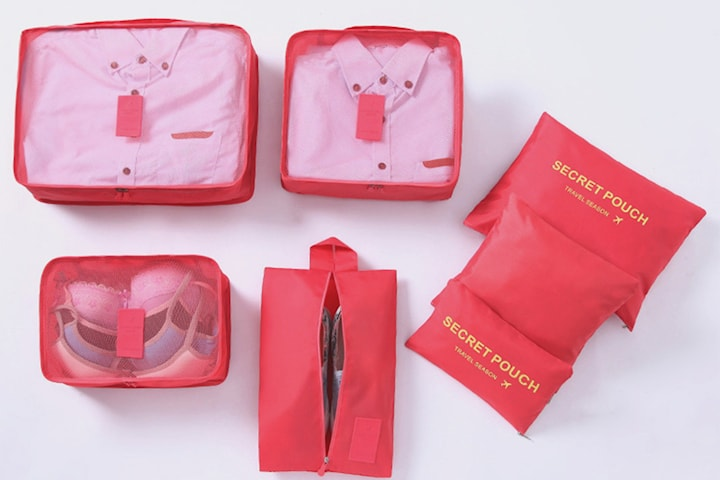 Förvaringsväskor till resväskan, 7-pack