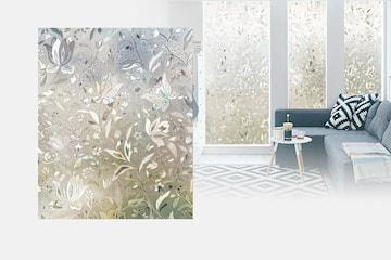 Frostad fönsterfilm med mönster