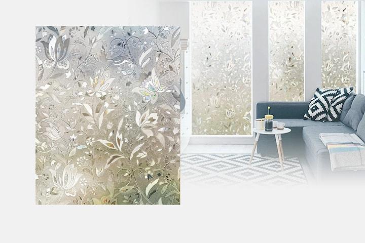 Frostet vindusfilm med mønster