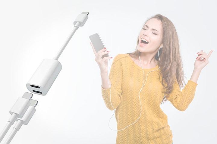 Lightning-adapter til iPhone