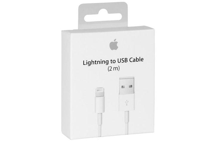 Apple Lightning kabel, USB till Lightning, 2m, vit, MD819ZM/A (Blister)