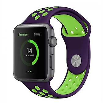 Lilla/Grønn, 38/40, Rubber Strap For Apple Watch, Silikonbånd for Apple Watch, ,