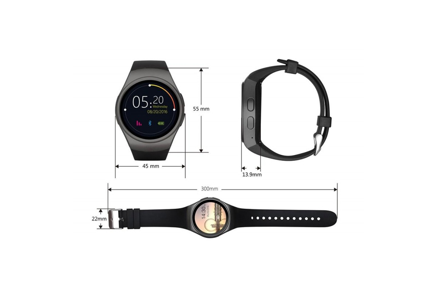 Smartwatch med Bluetooth