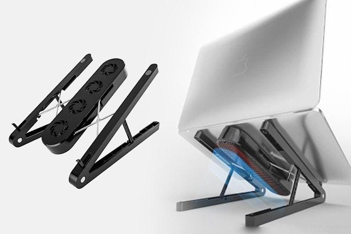 Stativ og kjølevifte for laptop