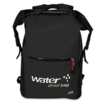 Svart, Waterproof Backpack, Vattentät ryggsäck, ,