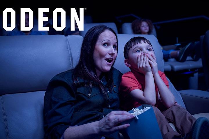 Kinobillett, IMAX og/eller popcornmeny som kan brukes på alle ODEON i hele Norge